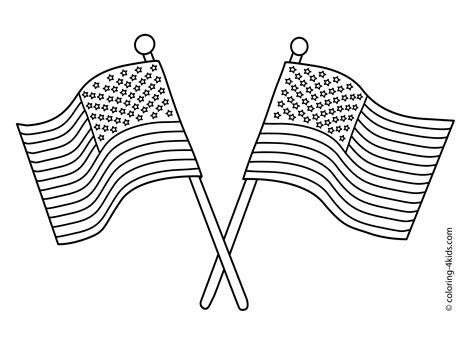 usa flag coloring pages getcoloringpagescom