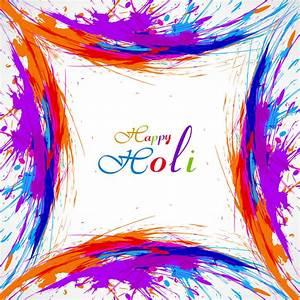 Beautiful card colorful holi gulal presentation ...