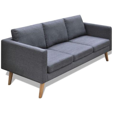 canapé gris foncé acheter canapé 3 places en tissu gris foncé pas cher