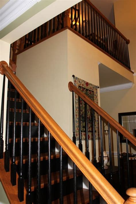 how to paint a banister black 1000 ideas about black banister on banisters