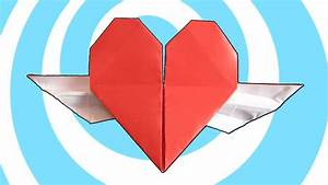 Origami Heart With Wings Instructions  Ud83d Udc95