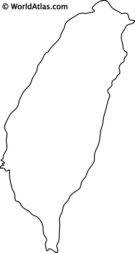 taiwan outline map