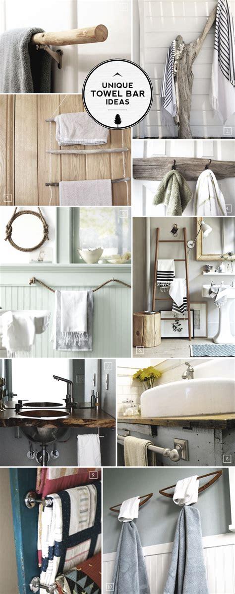unique ideas  bathroom towel bars  racks home tree