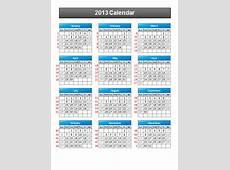 Simple 2013 Calendar PowerPoint Template PowerPoint