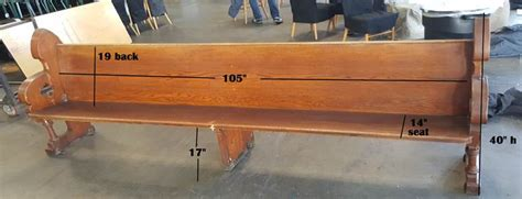 Church Pew Vintage Bench Rentals