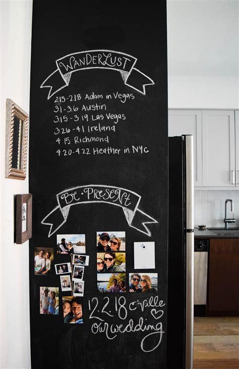 design  kitchen chalkboard wall heather bien