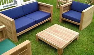 Salon de jardin bas en bois salon jardin table Reference maison
