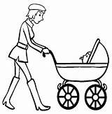 Stroller Coloring Wanderer Baby Pages Template sketch template