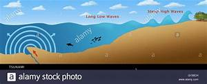 Illustration Of A Tsunami Formed From An Earthquake  Crack In The Stock Photo