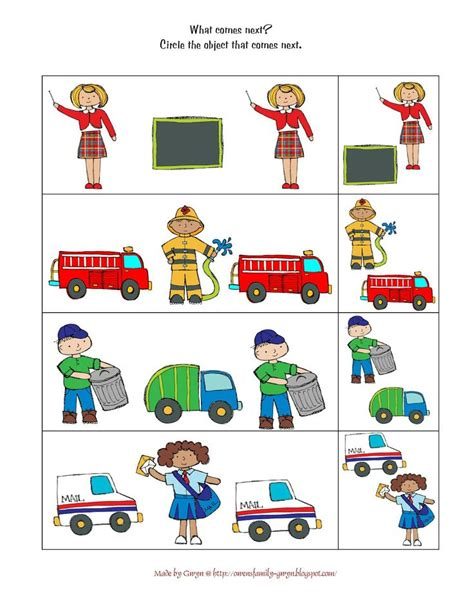 preschool printables community helpers preschool a g 145 | f8df31653736c1d312fb64ad6cedc33b