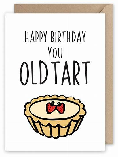 Birthday Happy Tart Card Greeting 1st