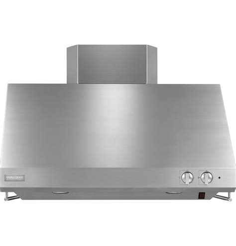 ge monogram series wall mounted ducted vent hood stainless steel zvssfss monogram