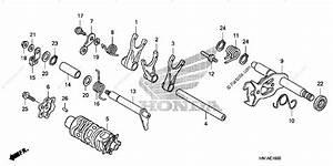 Honda Atv 2007 Oem Parts Diagram For Shift Drum    Shift