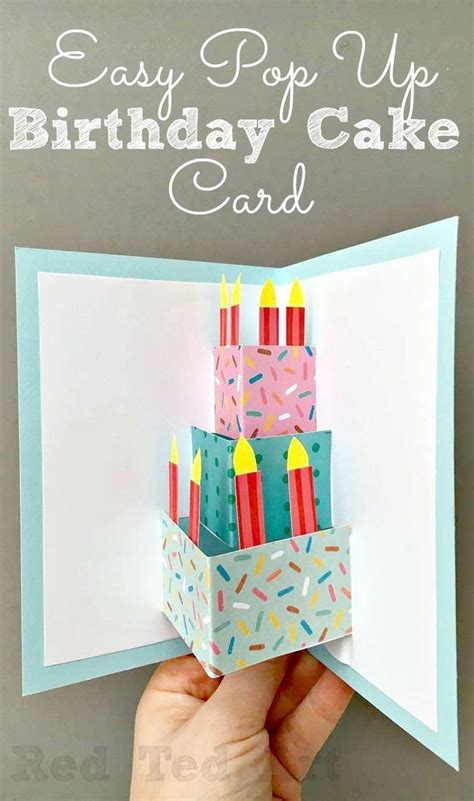easy birthday card template easy pop up birthday card diy scrapbooking diy