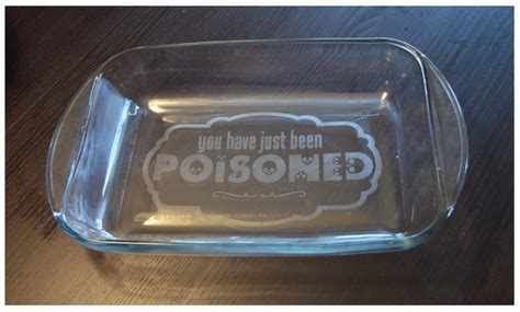 poisoned etched personalized  glass