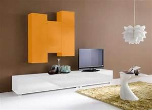 Meuble Tv Mural Pas Cher : ensemble tv suspendu laqu design elegance achatdesign ~ Dailycaller-alerts.com Idées de Décoration