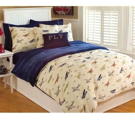thro vintage airplanes microplush twin comforter set