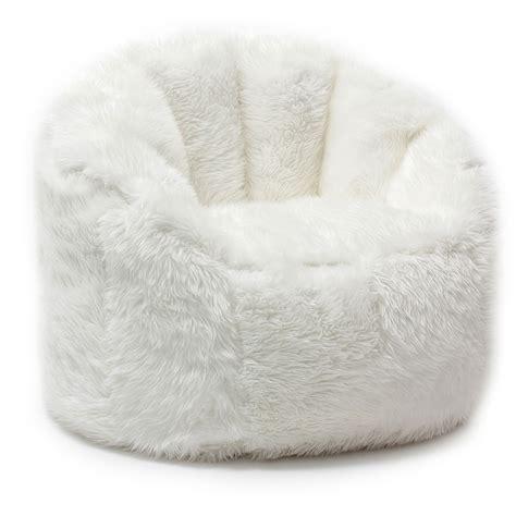 comfort research beansack big joe faux fur bean bag