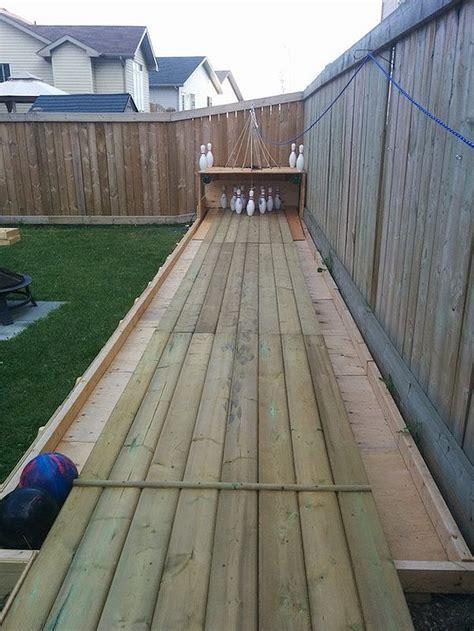 Backyard Bowling Set by Build Your Own Backyard Bowling Alley Diy Ready