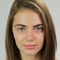 Models Faces with and without Makeup