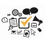 Marketing Transparent Icons Background Web