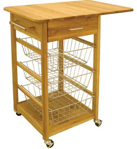 kitchen island with baskets drop leaf folding basket cart in kitchen island carts 5199