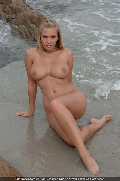 Busty Cikita Posing Nude On The Rocky Shore
