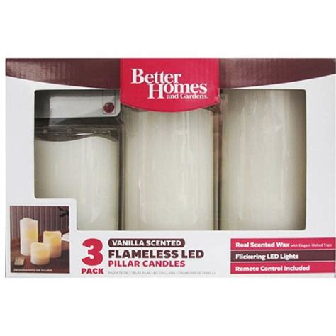 better homes and gardens led pillar candles with remote 3