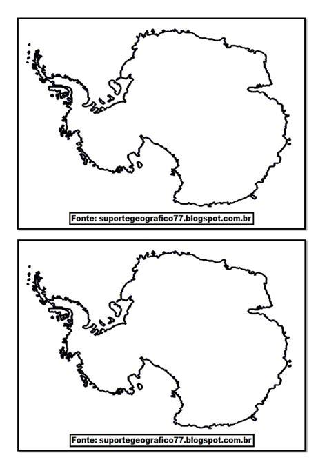 ANTÁRTIDA MAPAS PARA COLORIR Suporte Geográfico