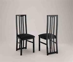 Chic laque noir sejours chaises de salle a manger chaise for Meuble salle À manger avec chaise noir de salle a manger