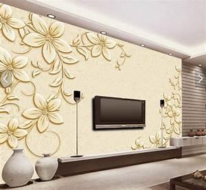 Tapete Living : tapet living auriu cu flori ~ Yasmunasinghe.com Haus und Dekorationen