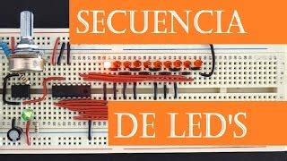 luces secuenciales con leds timer 555 viyoutube