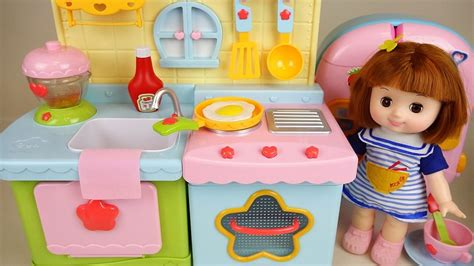 baby doll kitchen  play doh cooking play youtube