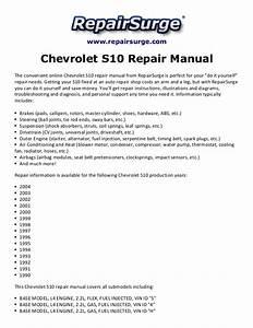 Chevrolet S10 Repair Manual 1990