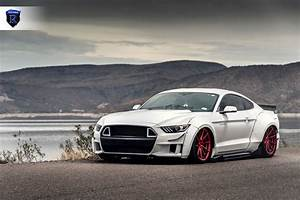 Japanese Tuning for White Ford Mustang on Rohana Wheels — CARiD.com Gallery