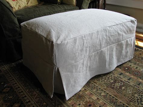 Slipcover For Ottoman by Slipcovers For Ottomans Home Furniture Design