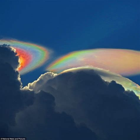 Photographer Captures Rare Fire Rainbow Cloud Above