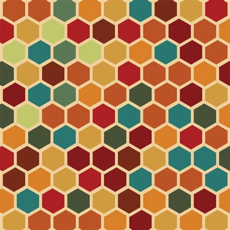 Retro Geometric Hexagon Seamless Pattern Vector | Free ...