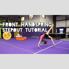 How To Do A Front Handspring Stepout Youtube