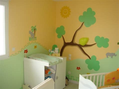 chambre theme jungle photo chambre bebe jungle