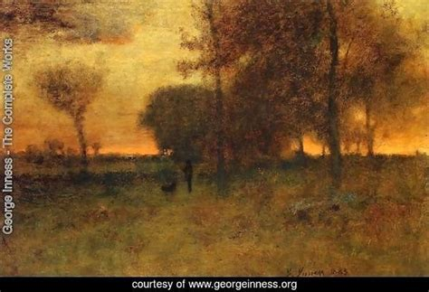 george inness  complete works sunset glow