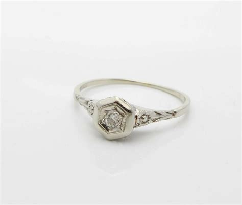 sale antique edwardian engagement ring 18k white gold ebay
