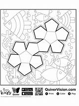 Quiver Shapes Coloring Votes sketch template