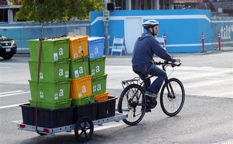 Life As An Amazon Bicycle Courier Steep Hills And Even