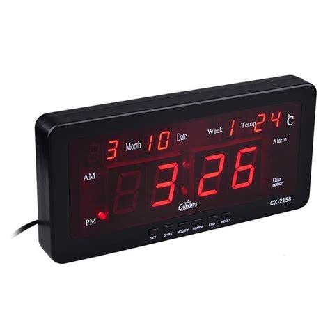 Jam Dinding Digital 2159 Merah free ongkir jam digital caixing cx 2158 hobar untuk meja