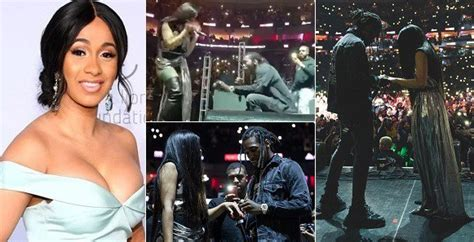 Offset Proposes To Cardi B Live On Stage (photos/videos