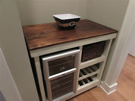 Wine Bar Buffet Table Built To Customer Specifications