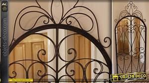 Miroir 2 Metre : grand miroir fen tre marquise en fer forg 2 m tres ~ Teatrodelosmanantiales.com Idées de Décoration