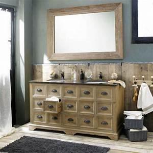 meuble de salle de bains 20 salles de bains design au With meuble salle de bain brocante