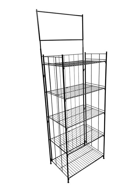 collapsible black wire display rack  shelves unit  holland beauty flower bulb